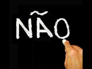 la negación en portugués