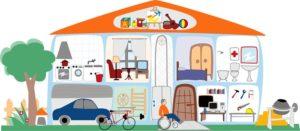 Partes y objetos que están alrededor de una casa en portugués - photo#36