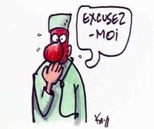 disculparse en francés
