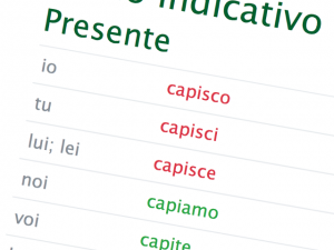 Verbos en italiano
