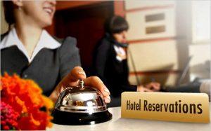 Reservación en un hotel
