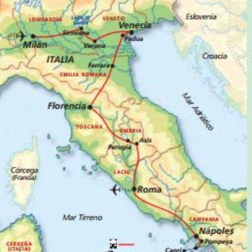 recorrido por Italia