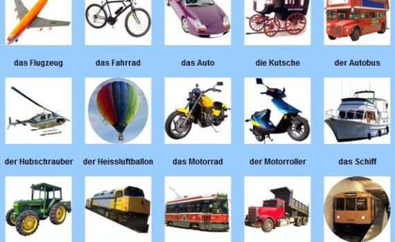 transporte en alemán