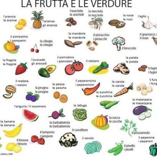 frutas y vegetales en italiano