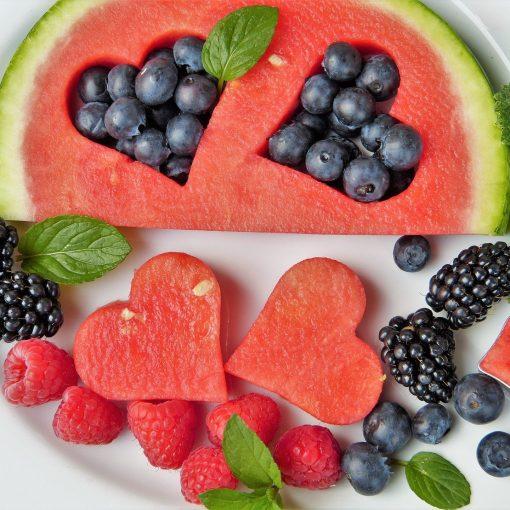 Frutas y verduras en alemán