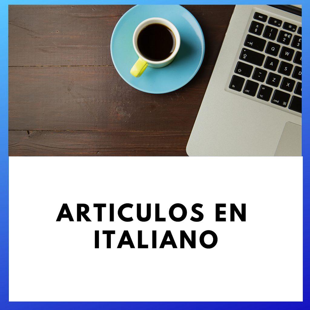 artículos del italiano